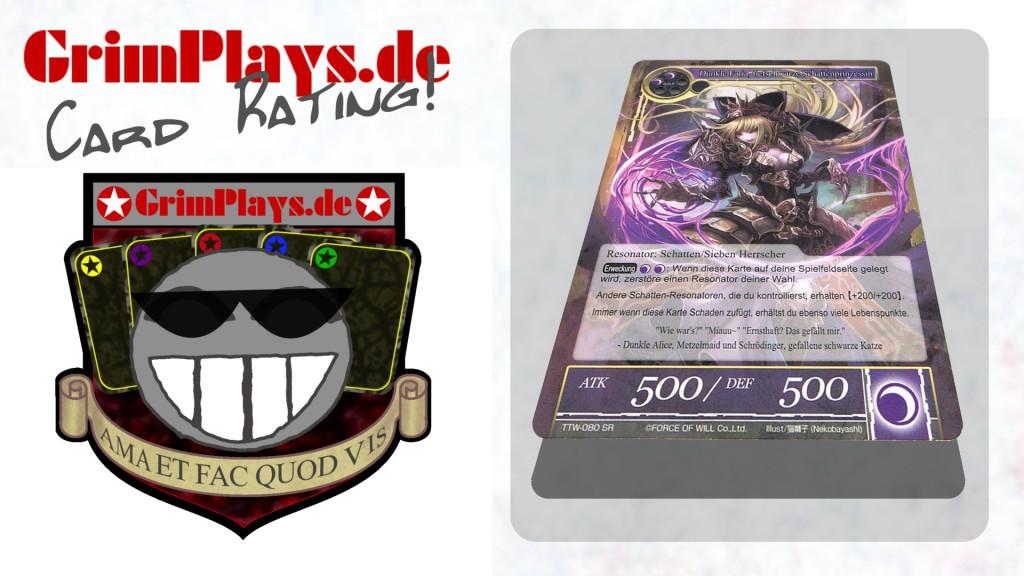 Force of Will Dark Faria Dunkle Faria tiefschwarze Schattenprinzessin Card Rating